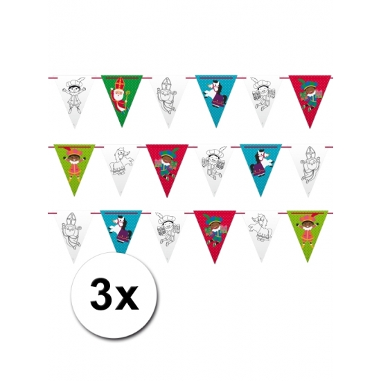 3 Sinterklaas vlaggenlijnen smile 6 meter thumbnail