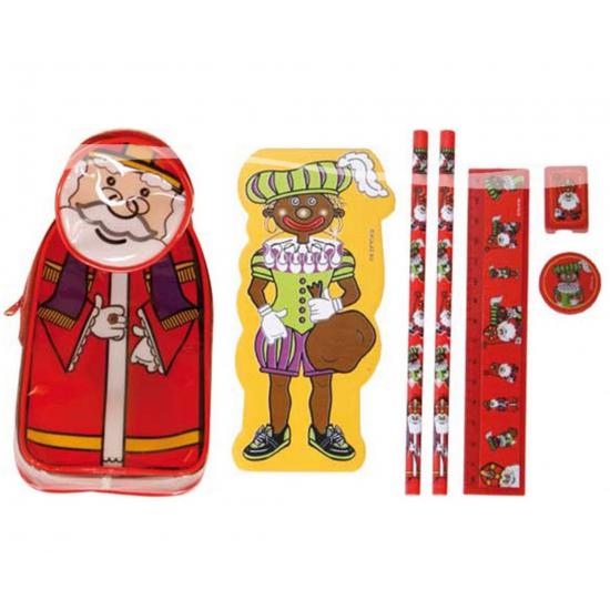 Feest Sinterklaas etui met schrijfwaren thumbnail