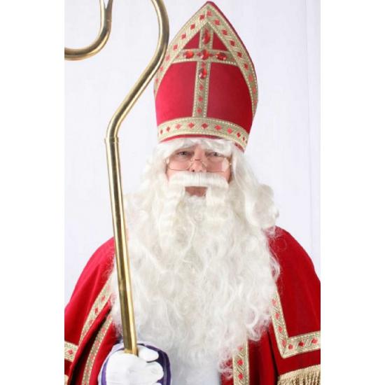 Feest Sinterklaas pruik met baard thumbnail