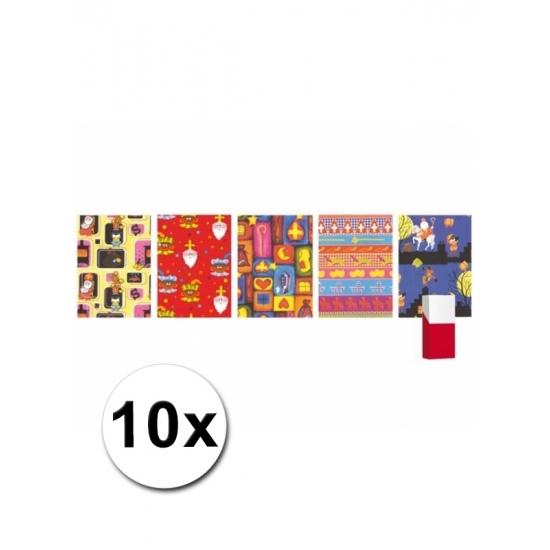 Kadopapier Sinterklaas 10x thumbnail