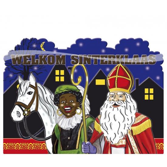 Kartonnen bord Welkom Sinterklaas thumbnail