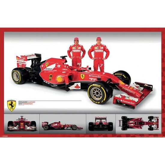 Poster Ferrari F1 61 x 91,5 cm