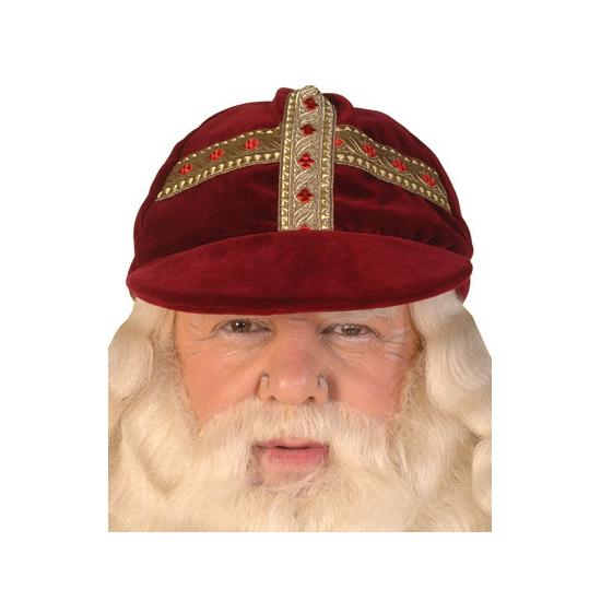 Sinterklaas Luxe Sinterklaas werkmijter fluweel thumbnail