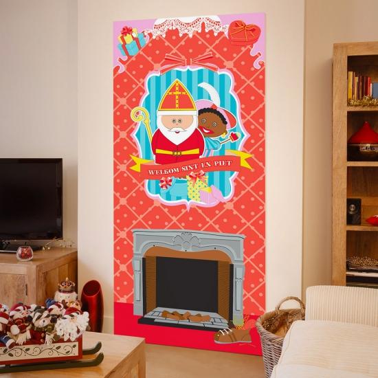 Sinterklaas welkomst poster 80 x 180 cm thumbnail