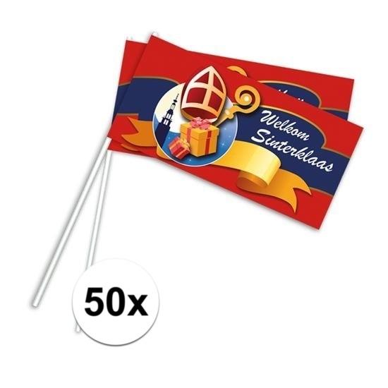 Sinterklaas zwaaivlaggetjes 50 stuks thumbnail