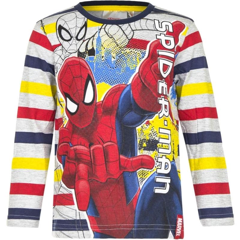 Spiderman t-shirt gestreept voor jongens