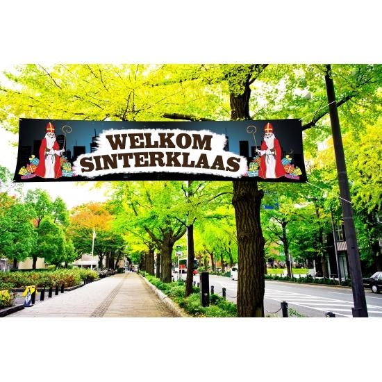 Welkom Sinterklaas spandoek voor de intocht thumbnail