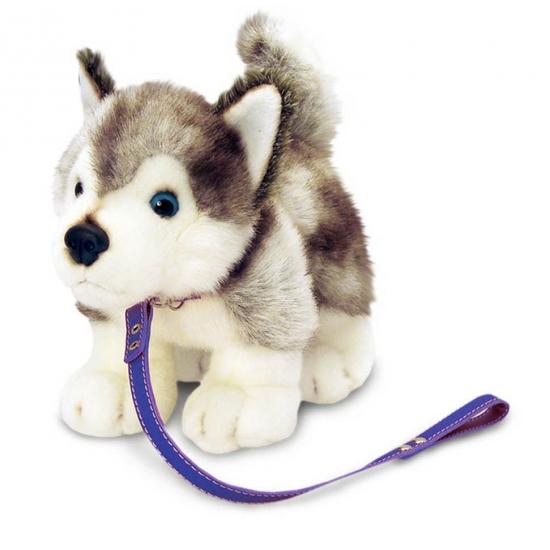 Husky honden knuffels aan lijn goedkoop speelgoed bij de