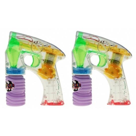2x Bellenblaas speelgoed gun met licht