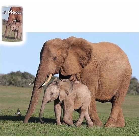 Dierenpuzzel olifant 40-delig