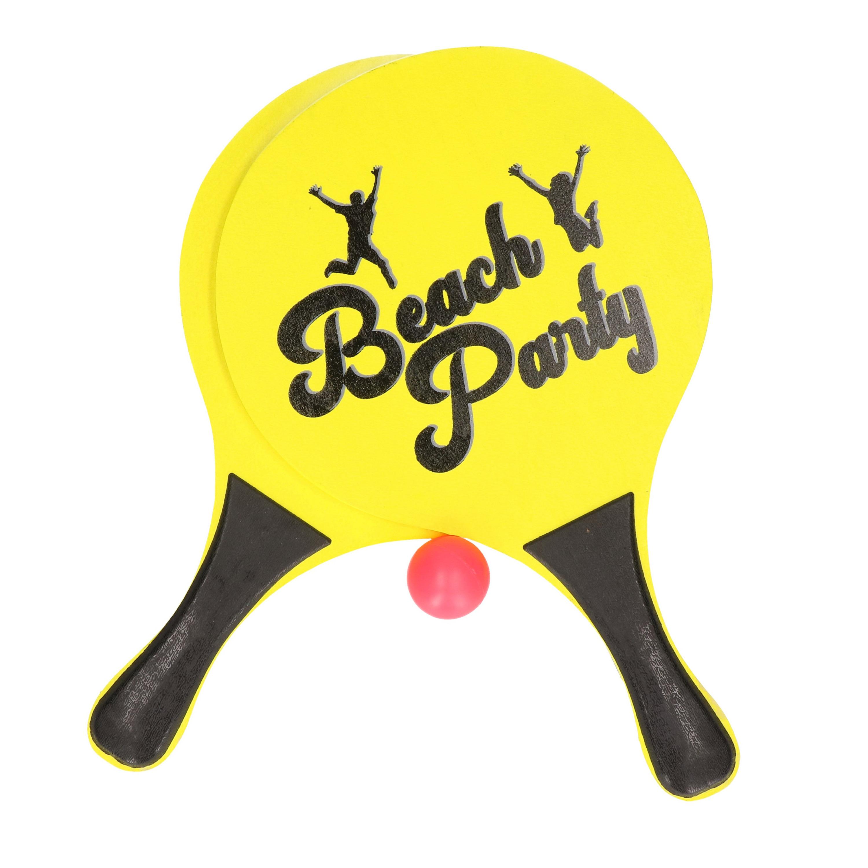 Gele beachball set buitenspeelgoed