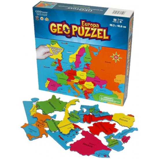 Geografie puzzel Europa voor kinderen