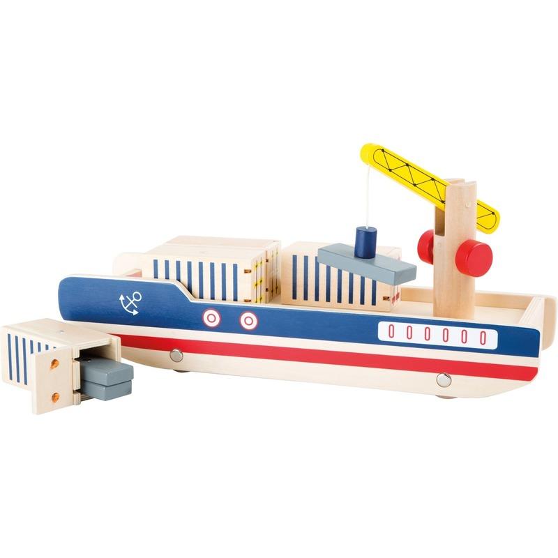 Houten container boot speelset