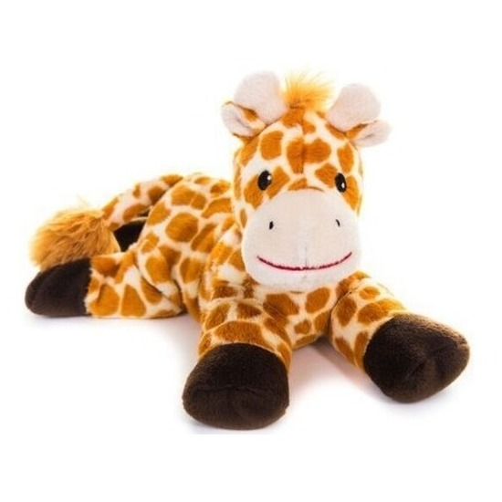 Warm knuffel giraf babyshower kado 18 cm