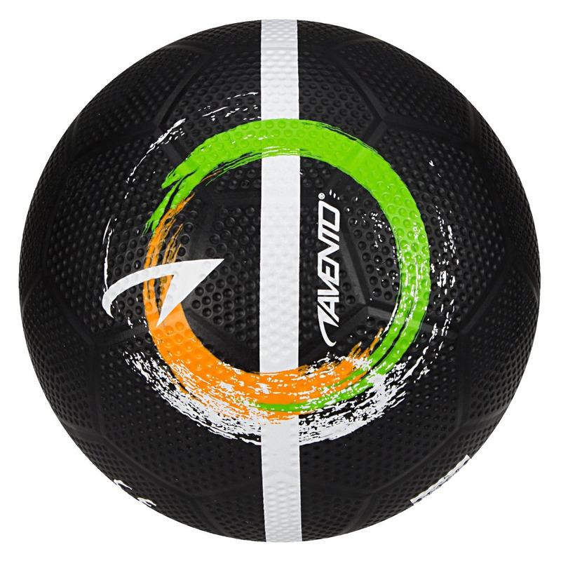 Zwarte speelgoed voetbal 21 cm/maat 5 voor kinderen/volwassenen
