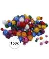 150x knutsel pompons 15-40 mm glitterkleuren