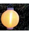 1x stuks luxe solar lampion/lampionnen wit met realistisch vlameffect 20 cm