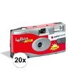 20x Bruiloft/vrijgezellenfeest wegwerp camera 27 fotos met flits