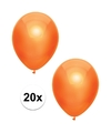 20x Oranje metallic ballonnen 30 cm