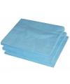 25x Lichtblauwe servetten 33 x 33 cm