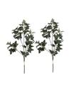 2x Groene Hedera/klimop kunsttakken kunstplanten 55 cm