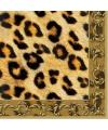 40x Luipaard dieren thema servetten 33 x 33 cm.