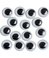 40x Wiebel oogjes/googly eyes 8 mm