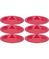 6x Rode plastic borden/bordjes 20 cm