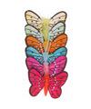 6x stuks Decoratie vlinders 5 cm op prikkers