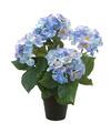 Blauwe hortensia Hydrangea Macrophylla kunstplant in kunststof pot 40 cm