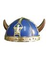 Blauwe viking helmen