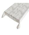 Buiten tafelkleed/tafelzeil grijs steigerhout 140 x 245 cm