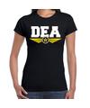 DEA agent tekst t-shirt zwart voor dames