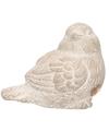 Decoratie dieren beeld mus vogel wit 8 cm