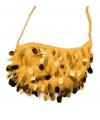 Feest Gouden tasje met pailletten