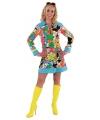 Feest Hippie bloemen jurk dames