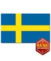 Feest Luxe vlag van Zweden