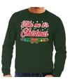 Foute kersttrui groen Take Me Its Christmas voor heren