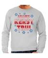 Foute Lelijke Kerst trui grijs voor heren