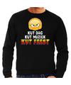 Funny emoticon sweater Kut dag kut muziek kut feest zwart heren