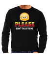 Funny emoticon sweater Please dont talk to me zwart heren