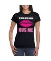 Geslaagd kus me t-shirt zwart dames