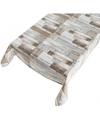 Gezellige tuintafel zeil houten planken motief140 x 170 cm
