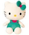 Hello Kitty knuffel poes groen 30 cm