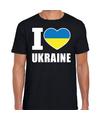 I love Ukraine t-shirt Oekraine zwart voor heren