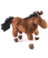 Kinder knuffels paarden bruin 19 cm