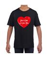 Lieve opa we love you t-shirt zwart voor kinderen