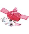 Luxe picknickmand met servies in seventies stijl 24 cm