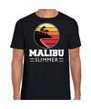 Malibu zomer t-shirt / shirt Malibu summer zwart voor heren
