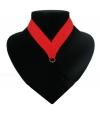 Medaille halslint rood